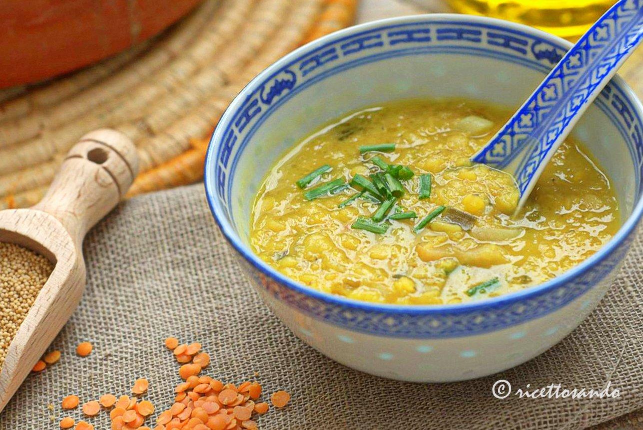 Zuppa di lenticchie e amaranto ricetta con zenzero e curcuma
