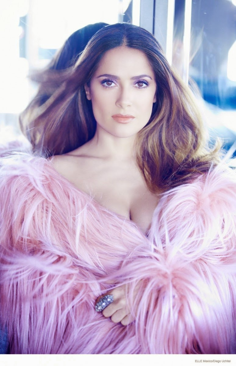 Salma Hayek shows off glamorous styles for Elle Mexico's 20th Anniversary Issue