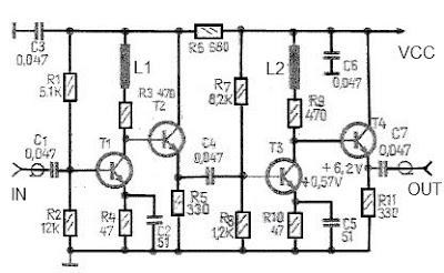 high gain antenna 43dB amplifier circuit