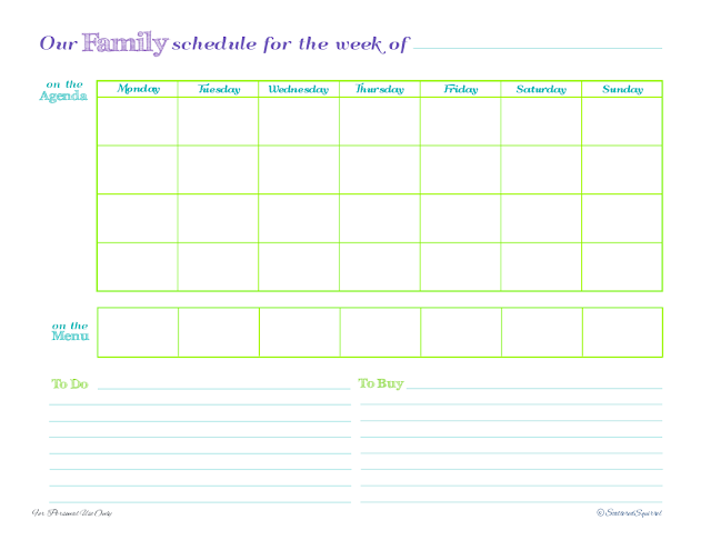 free, printable, planner, weekly, menu, to do list, shopping list