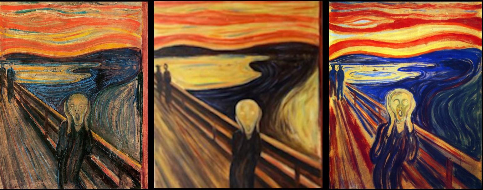 Резултат с изображение за edvard munch the scream 4 versions
