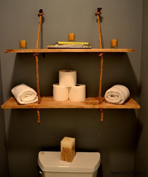 Diy Decoracion Salon ~ Con soga y estantes pintados decoraci?n para un sal?n My home ideas