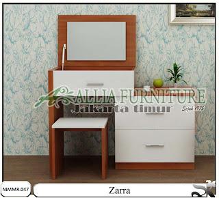 Meja kaca make up minimalis modern Zarra
