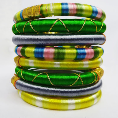 silk thread bangles indian