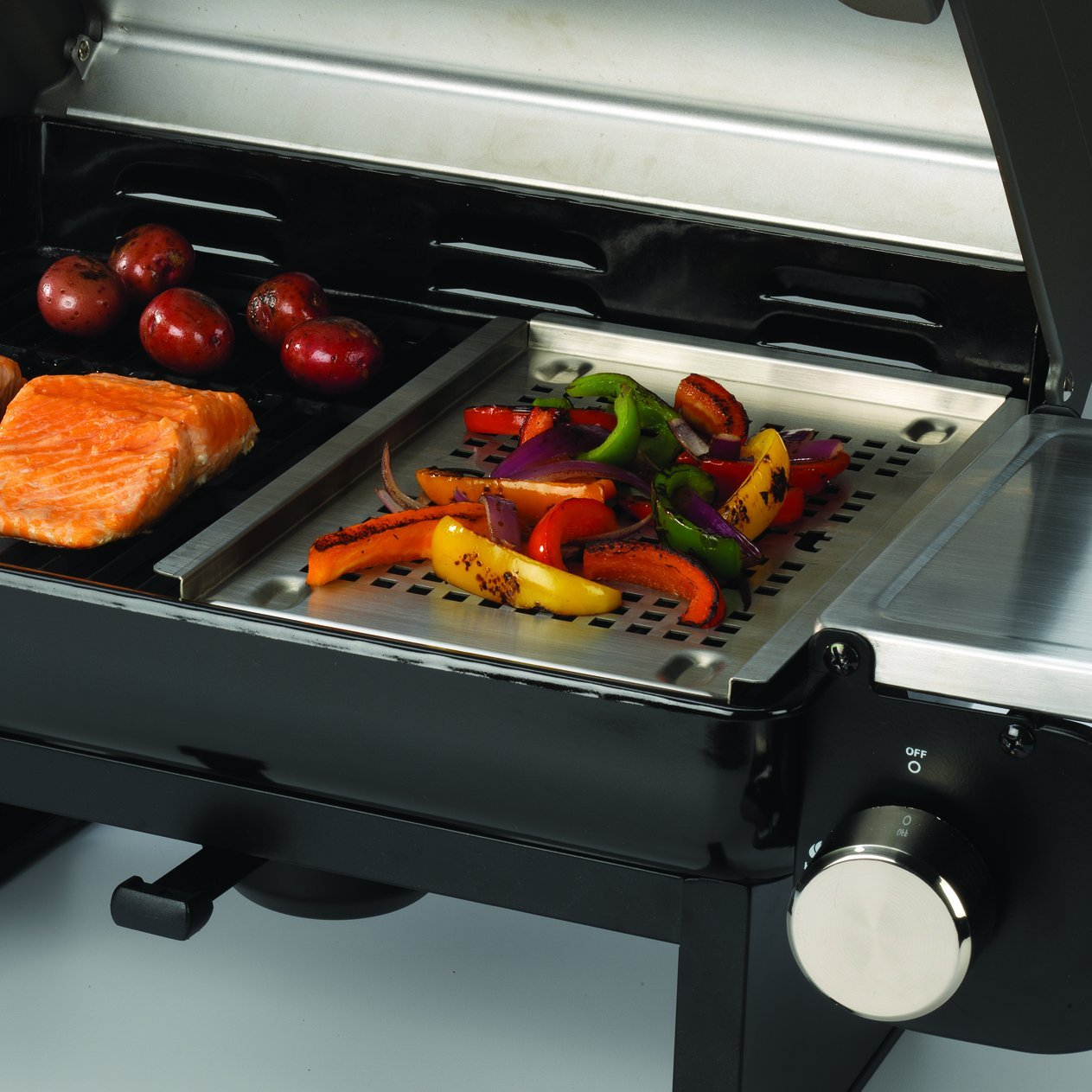 cuisinart cgg 200 all foods portable outdoor tabletop propane gas grill review gas grills details. Black Bedroom Furniture Sets. Home Design Ideas
