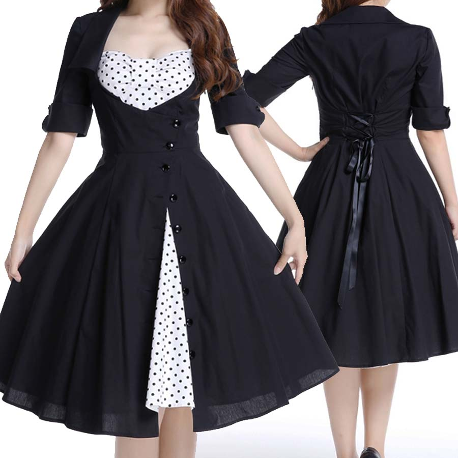 Plus Size Rockabilly Dresses Uk 86