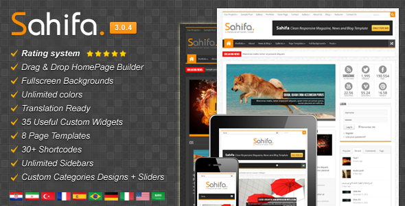 Sahifa Responsive WordPress News,Magazine,Blog Version 3.0.4 free