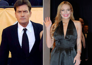 Charlie Sheen is angry that Lindsay Lohan didn't acknowledge his charity