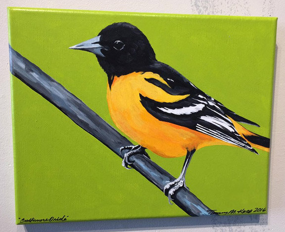 """Birds I've Seen,"" Paintings by Tammy Santti-Kero, at Community Arts Center"