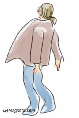 High speed trains is a gesture drawing done on on iphone by artist and illustrator Artmagenta