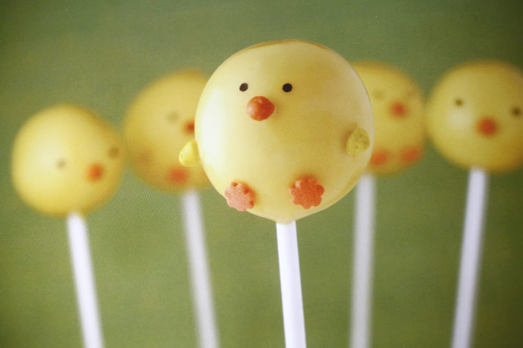 Chick Cake Pops Images : Domestic Charm: Easter Cake Pops