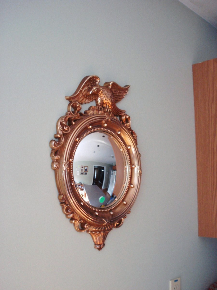 Heart maine home new convex mirror thrifty find for Convex mirror for home