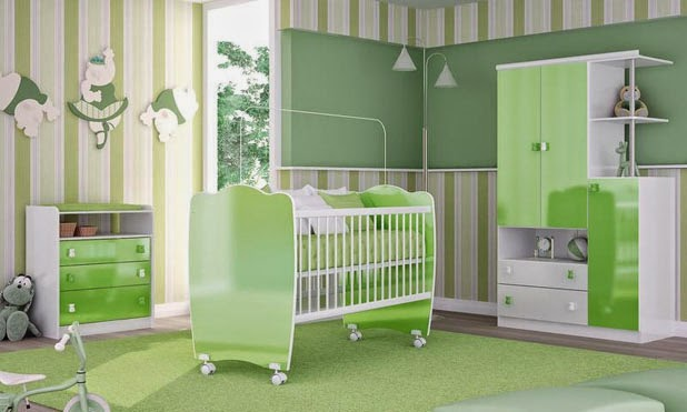 Dormitorios para beb color verde dormitorios colores y - Color paredes habitacion bebe ...