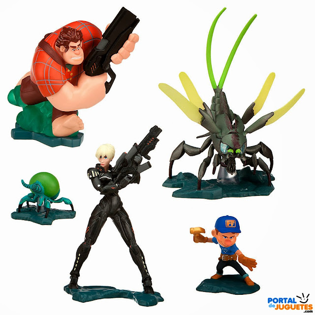 figuras rompe ralph set hero's duty disney store