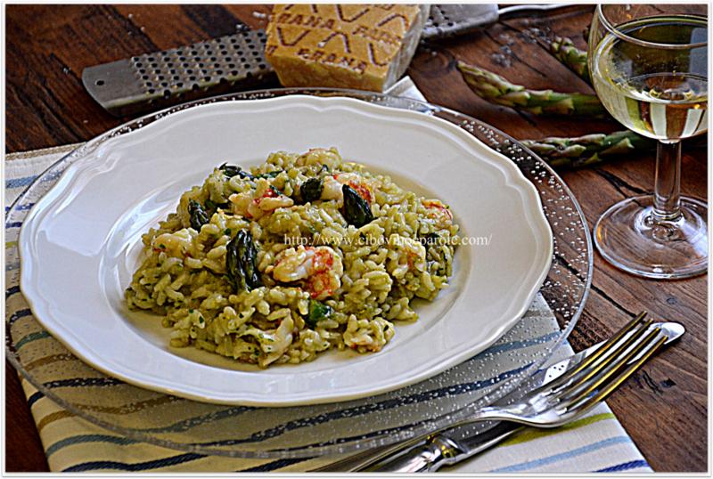 risotto verdure e pesce