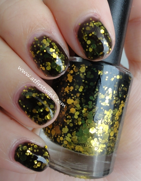 Modi nail polish 80 - Secret Night nail swatch