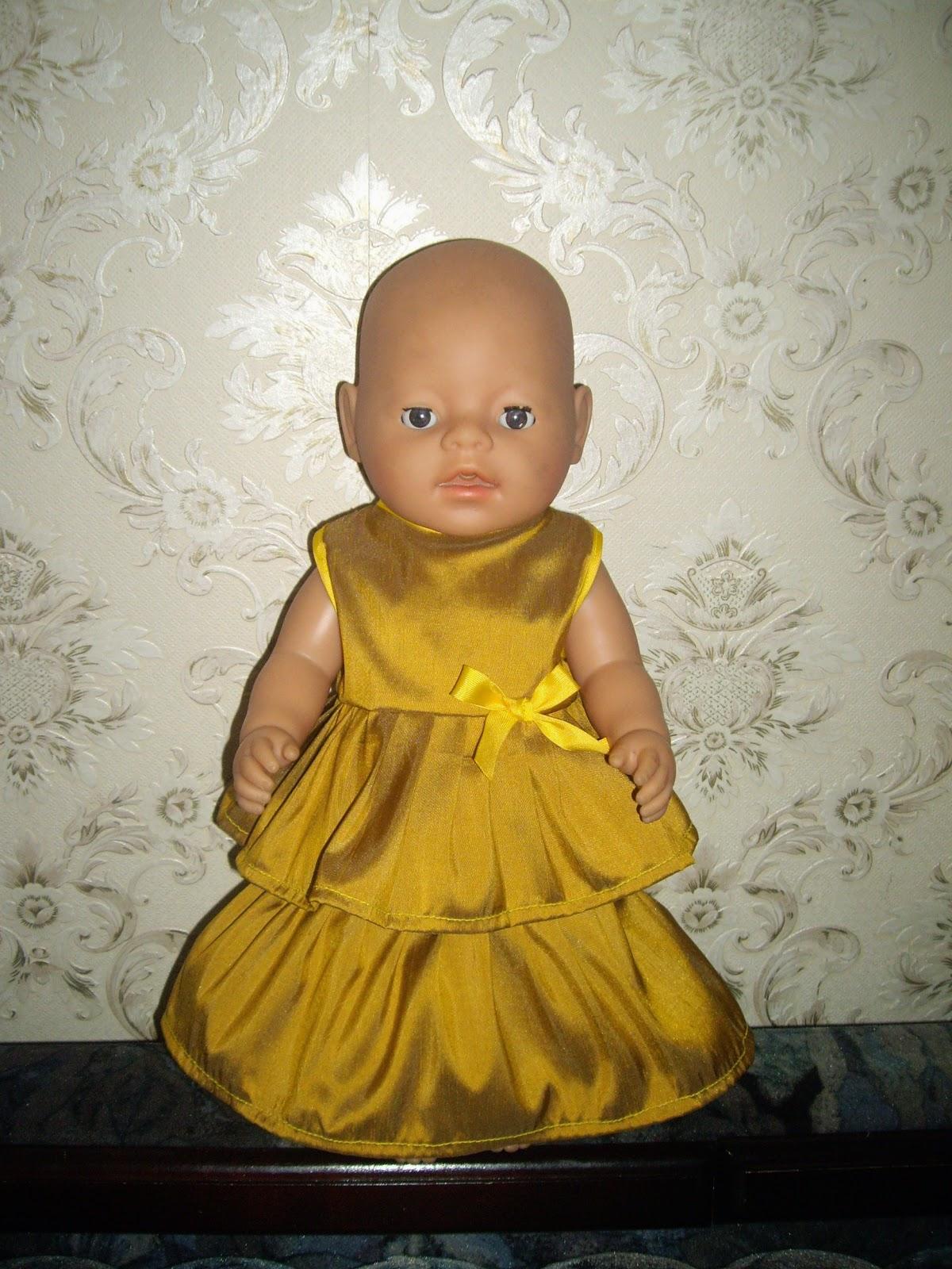 Платье для пупсика своими руками 70