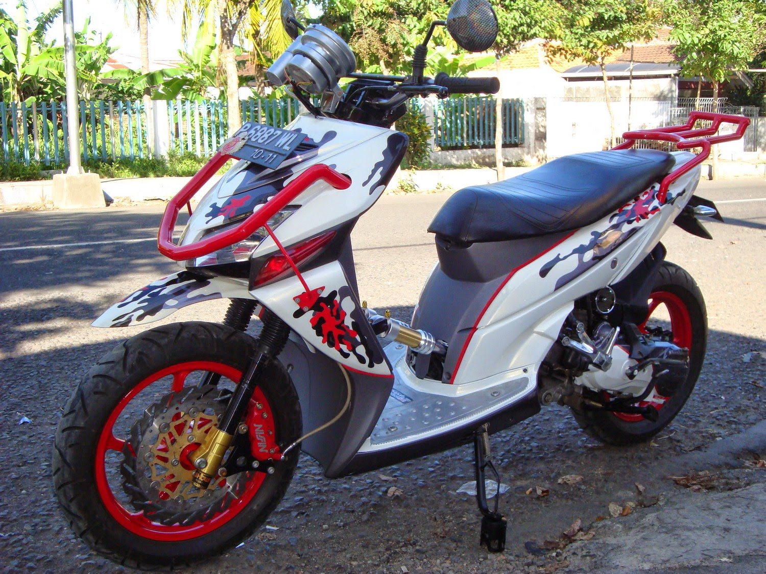 referensi modifikasi motor honda beat fi cw
