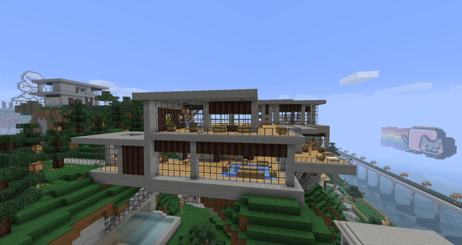 minecraft modern house designs blueprints images
