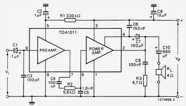 amplifiercircuits com  tda1011