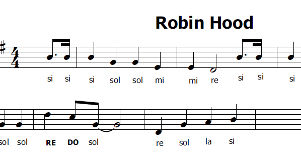 Musica e spartiti gratis per flauto dolce robin hood walt