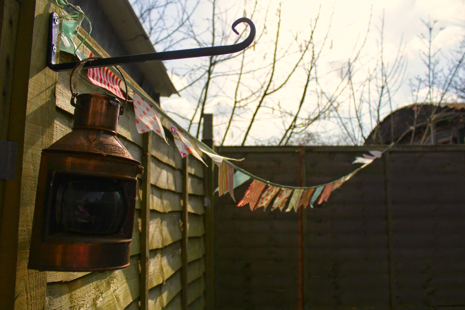Project 365 day 80 - Bunting in the garden // 76sunflowers