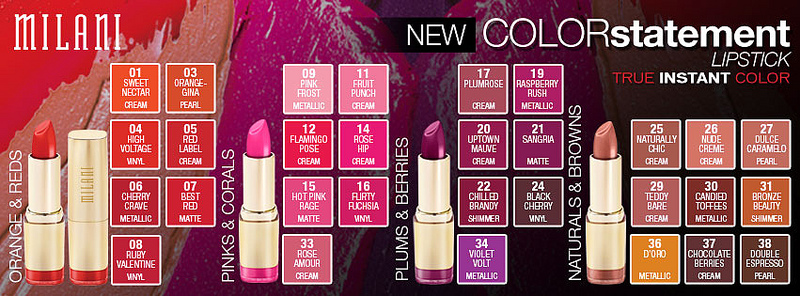 milani color statement lipstick review swatches fabellis