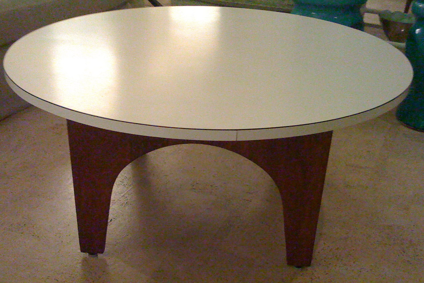 Urban picker live well on a lark even a white formica coffee table can be charming Formica coffee table