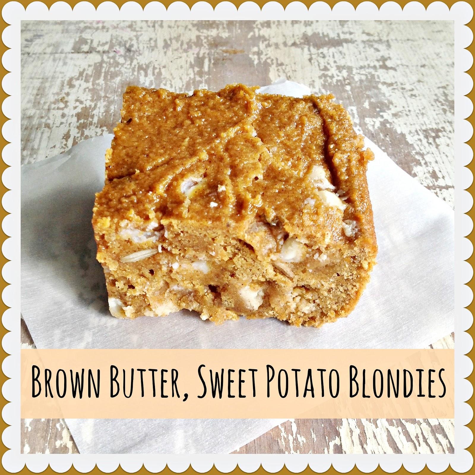 Brown Butter, Sweet Potato Blondies
