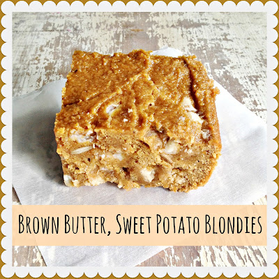 Everyday is a Holiday: Brown Butter, Sweet Potato Blondies