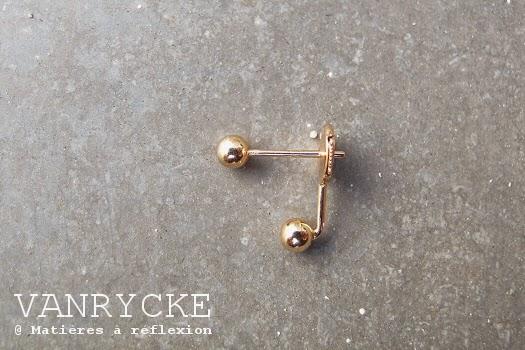 Eshop Vanrycke : boucles Little L en or rose