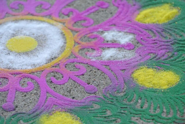 Up Close Rangoli