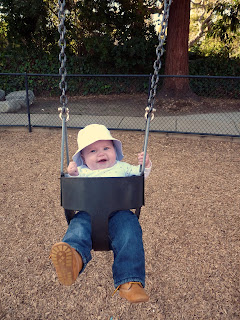 Freddie on the swings