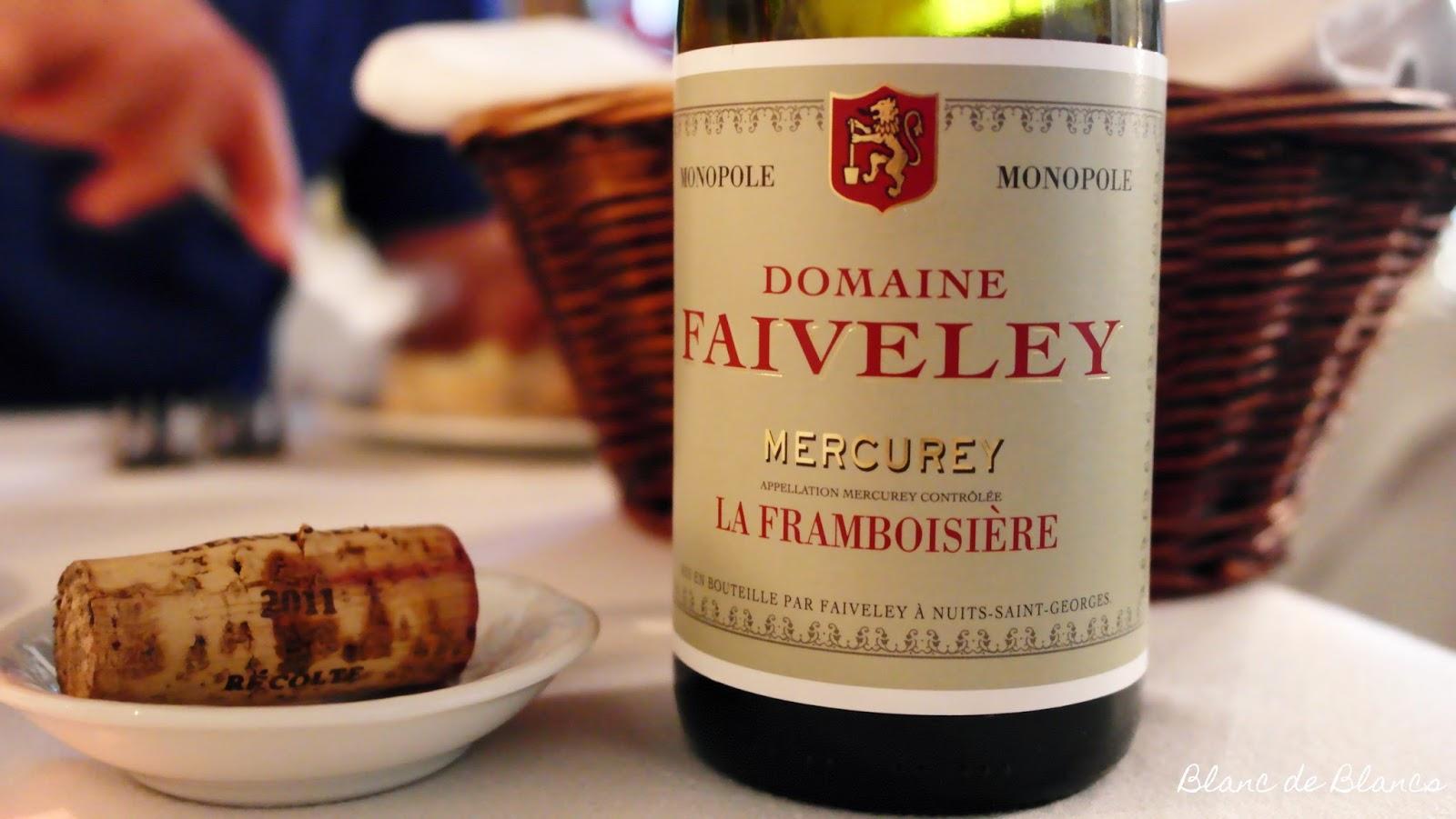 Domaine Faiveley Mercurey La Framboisière - www.blancdeblancs.fi