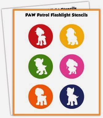 Figuras de Paw Patrol para Linternas, para Imprimir Gratis.