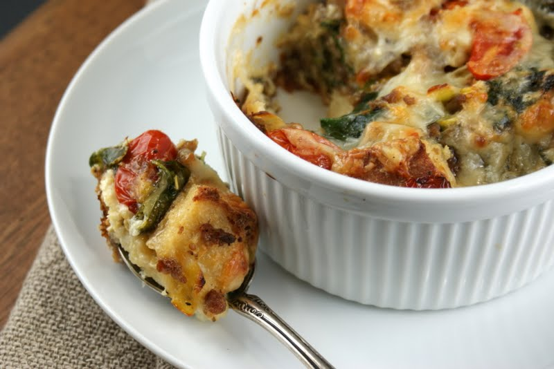Authentic Suburban Gourmet: Savory Breakfast Bread Pudding