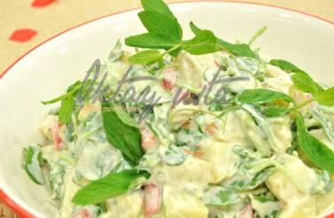 Oktay Usta Hardallı Köz Biberli Patates Salatası Tarifi Yeşil Elma