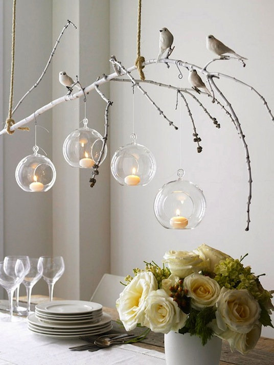 The autumn wedding hanging votives for Hanging votive candles