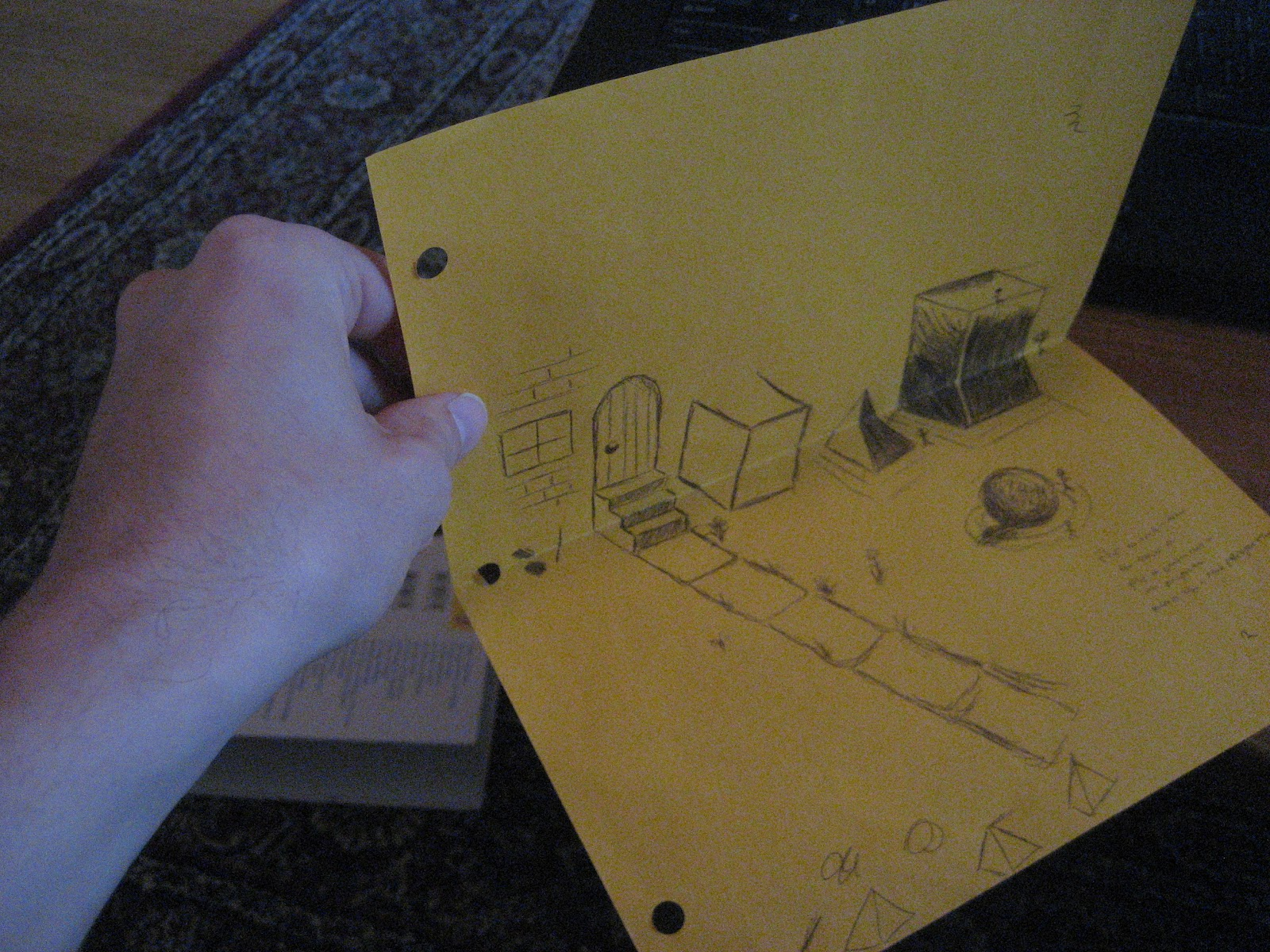 chuck does art drawing 3d in 2d