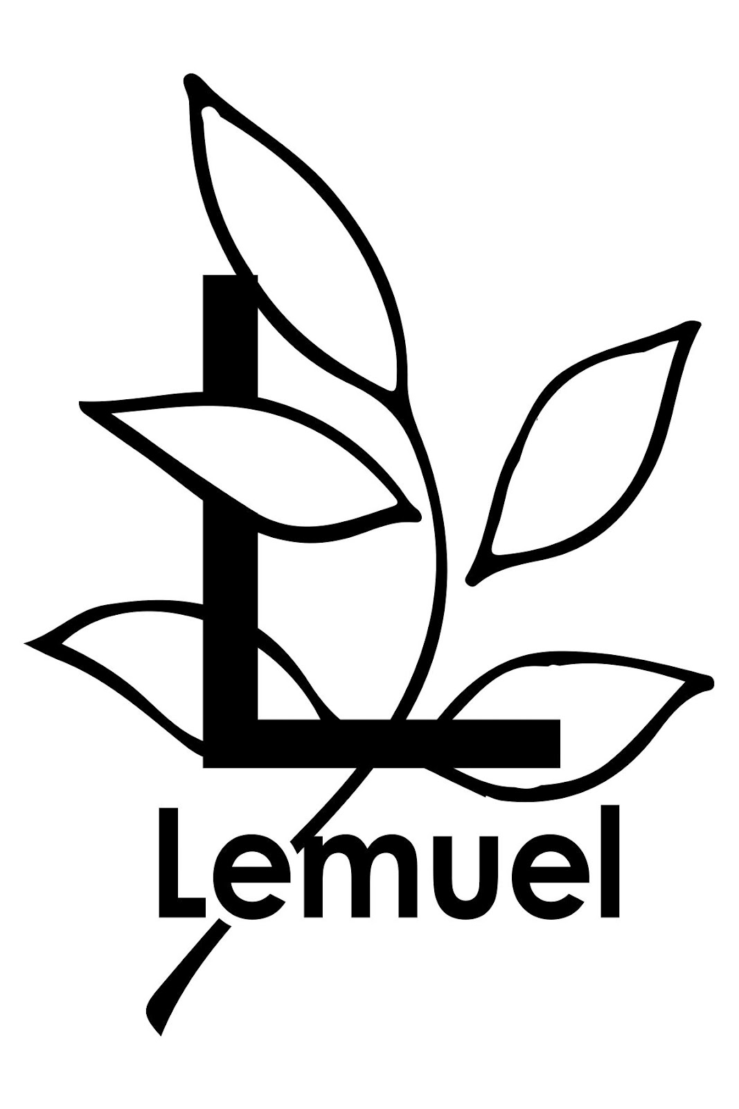 Lemuel Black and White Logo