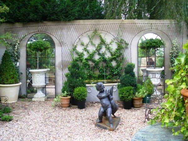Velvet moss cozy garden or ocean view for French garden design