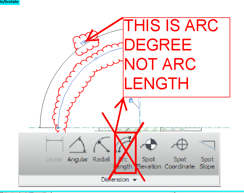 how to use arc length dimension in revit