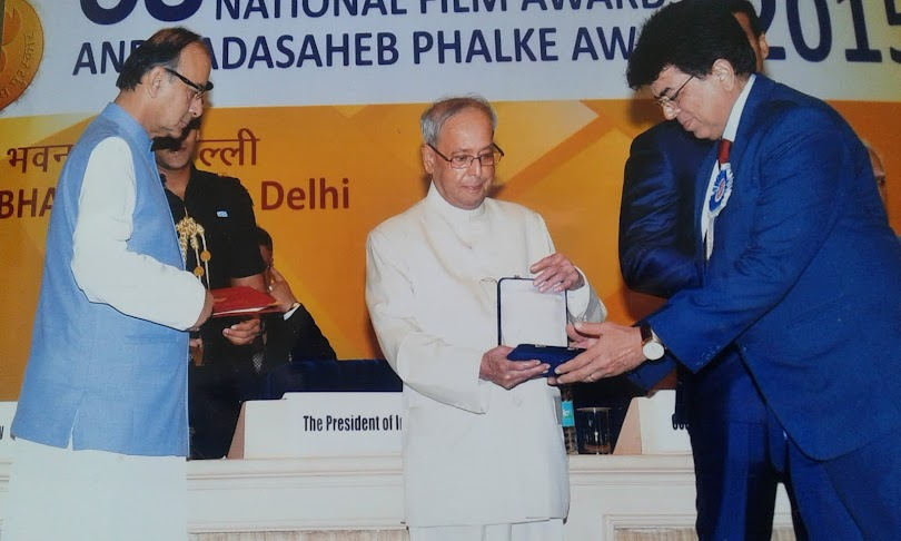 Receiving the National Award 2016 from the President of India for the Best documentary