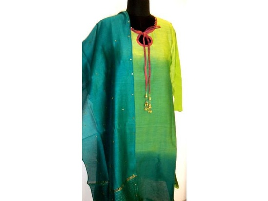 Grishma Tie and dyed chanderi tunic for ladies