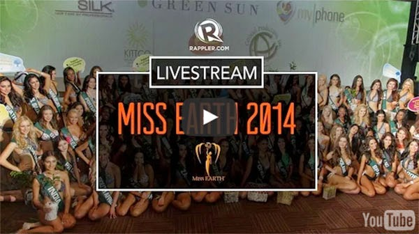 Miss Earth 2014 Live Stream, Results