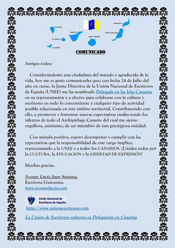 Delegada de la UNEE en las Islas Canarias.