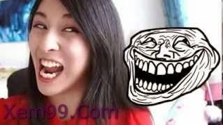 Cô gái xinh đẹp làm mặt troll hài hước 2 Bá Đạo