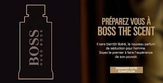 Échantillon Gratuit du parfum Boss The Scent de Hugo Boss à recevoir chez vous !