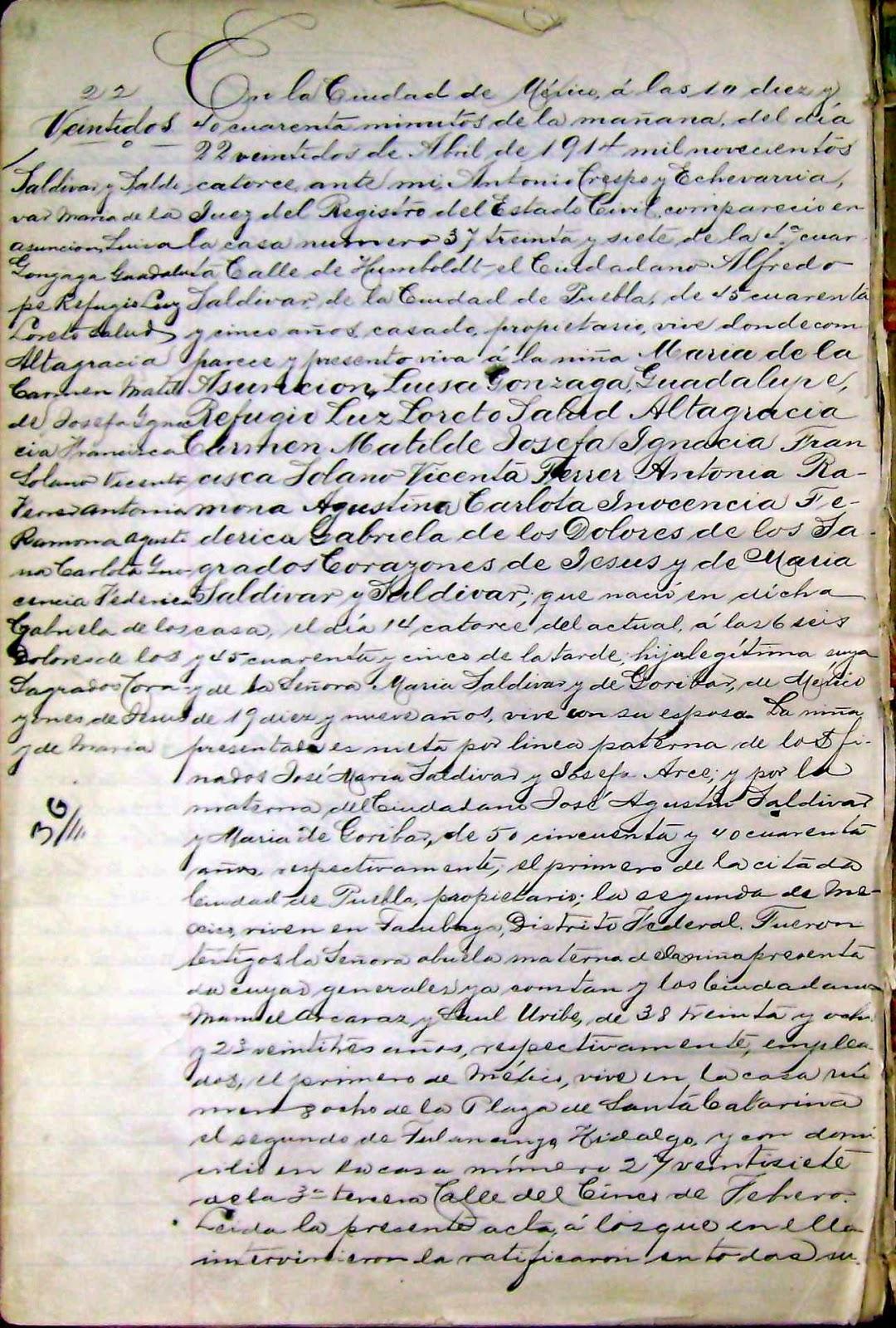 CURIOSIDADES DEL REGISTRO CIVIL MEXICANO A 155 AÑOS DE SU CREACION ...
