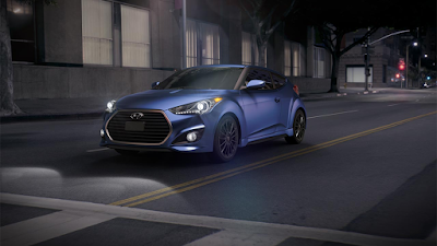 2016 New Hyundai Veloster Turbo performance front view